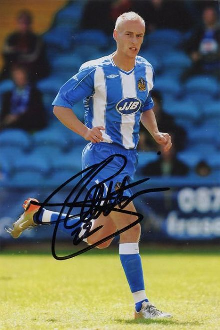 David Cotterill, Wigan Athletic & Wales, signed 6x4 inch photo.